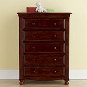 Bedford Baby Monterey 5-Drawer Dresser - Cherry