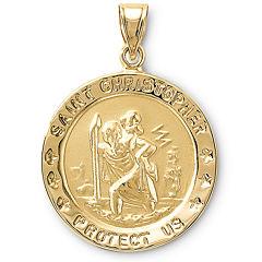 14K Gold St. Christopher Medallion