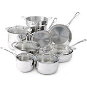Cuisinart® Contour 13-pc. Stainless Steel Cookware Set
