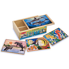 Melissa & Doug® Deluxe Sea Life Puzzles in a Box