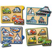 Melissa & Doug® Vehicles Mini-Puzzle Pack