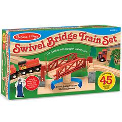 Melissa & Doug® Swivel Bridge Train Set