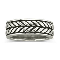 Men's Woven Band Stainless Steel