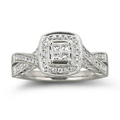 Cherished Hearts™ 1/3 CT. T.W. Certified Diamond Bridal Ring
