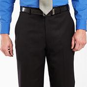 Stafford® Black Stripe Dress Pants - Portly