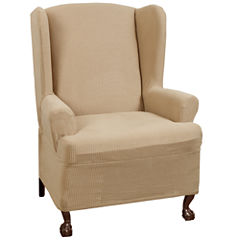 Maytex Smart Cover® Reeves Stretch Wing Chair Slipcover