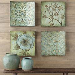 Set of 4 Rayne Collage Wall Art