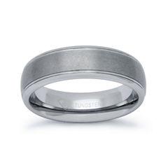 Mens 6mm Tungsten Comfort-Fit Ring