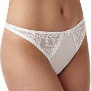 Va BienSatin and Lace Thong Panties - 76134