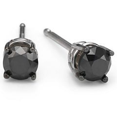 1/2 CT. T.W. Color-Enhanced Black Diamond Studs 10K White Gold