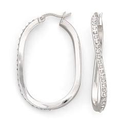 Diamond Fascination™ Wave Hoop Earrings