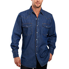 Ely Cattleman® Denim Washed Snap Shirt – Big & Tall