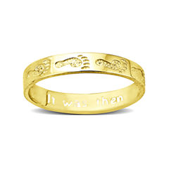 Footprints 10K Gold Ring