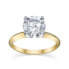 Diamonore™ Simulated Diamond  2 CT. Solitaire Ring