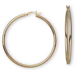 18K/Sterling Silver 50mm Hoop Earrings
