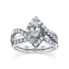 Diamonore™ Simulated Diamond Bridal Set 1.25 CTW
