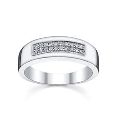Mens 1/5 CT. T.W. Diamond Band Sterling Silver