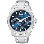 Citizen® Mens Blue Dial Silver-Tone Watch AG8300-52L