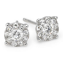 Brilliant Dream™ 1/2 CT. T.W. Diamond 14K White Gold Stud Earrings