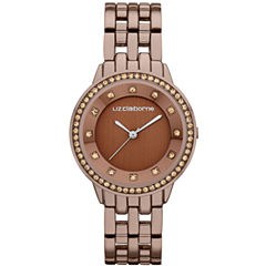 Liz Claiborne® Ladies Brown Watch with Crystals