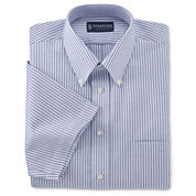 Stafford® Travel Short-Sleeve Wrinkle-Free Oxford Shirt–Big & Tall