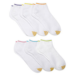 GoldToe® 6-pk. Cushion Low Cut Socks - Extended Sizes