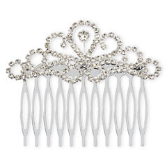 Vieste Silver-Tone Rhinestone Scroll Hair Comb