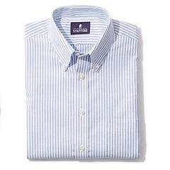 Stafford® Travel Short-Sleeve Wrinkle-Free Oxford Dress Shirt