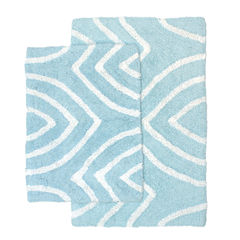 Homewear Linens Leaf Tips 2-pc. Bath Rug Set