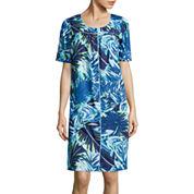 Adonna® Short-Sleeve Snap-Front Caftan