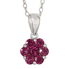 LIMITED QUANTITIES  Genuine Pink Tourmaline Flower Pendant Necklace