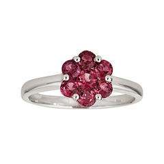 LIMITED QUANTITIES  Genuine Pink Tourmaline Flower Ring