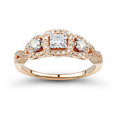 tw white and champagne diamond engagement ring - Jcpenney Wedding Rings