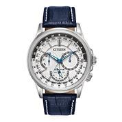 Citizen® Eco-Drive® Calendrier Mens Blue Leather Strap Watch BU2020-02A