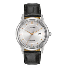 Citizen® Eco-Drive® Mens Black Leather Strap Watch AW1236-03A