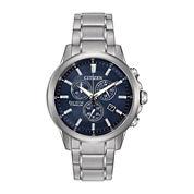 Citizen® Eco-Drive TI + IP Mens Super Titanium Chronograph Watch AT2340-56L