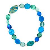 Dazzling Designs™ Blue Glass Bead Stretch Bracelet