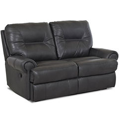 Brinkley Leather Reclining Motion Loveseat