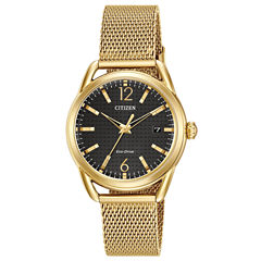 Drive from Citizen Womens Gold Tone Bracelet Watch-Fe6082-59e