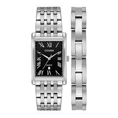 Citizen Mens Silver Tone Watch Boxed Set-Bh3000-68e
