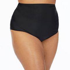 St. John's Bay Solid High Waist Swimsuit Bottom -Plus