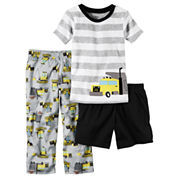Carter's Boys 3-pc. Short Sleeve Kids Pajama Set-Toddler