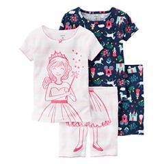 Carter's Pajama Shorts-Baby Girls