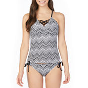 Arizona Chevron Tankini Swimsuit Top or Hipster Bottom-Juniors