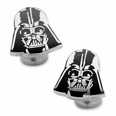 Star Wars® Recessed Matte Darth Vader Head Cuff Links