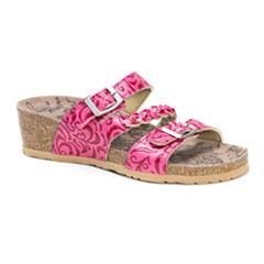 Muk Luks Bette Womens Flat Sandals