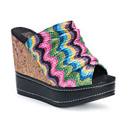 Muk Luks Peyton Womens Wedge Sandals