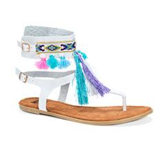 Muk Luks Chrystal Womens Flat Sandals