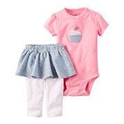 Carter's Girl Pink Cupcake Set