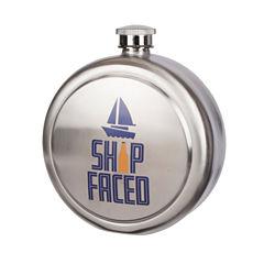 Wembley 42oz. Ship Faced Flask